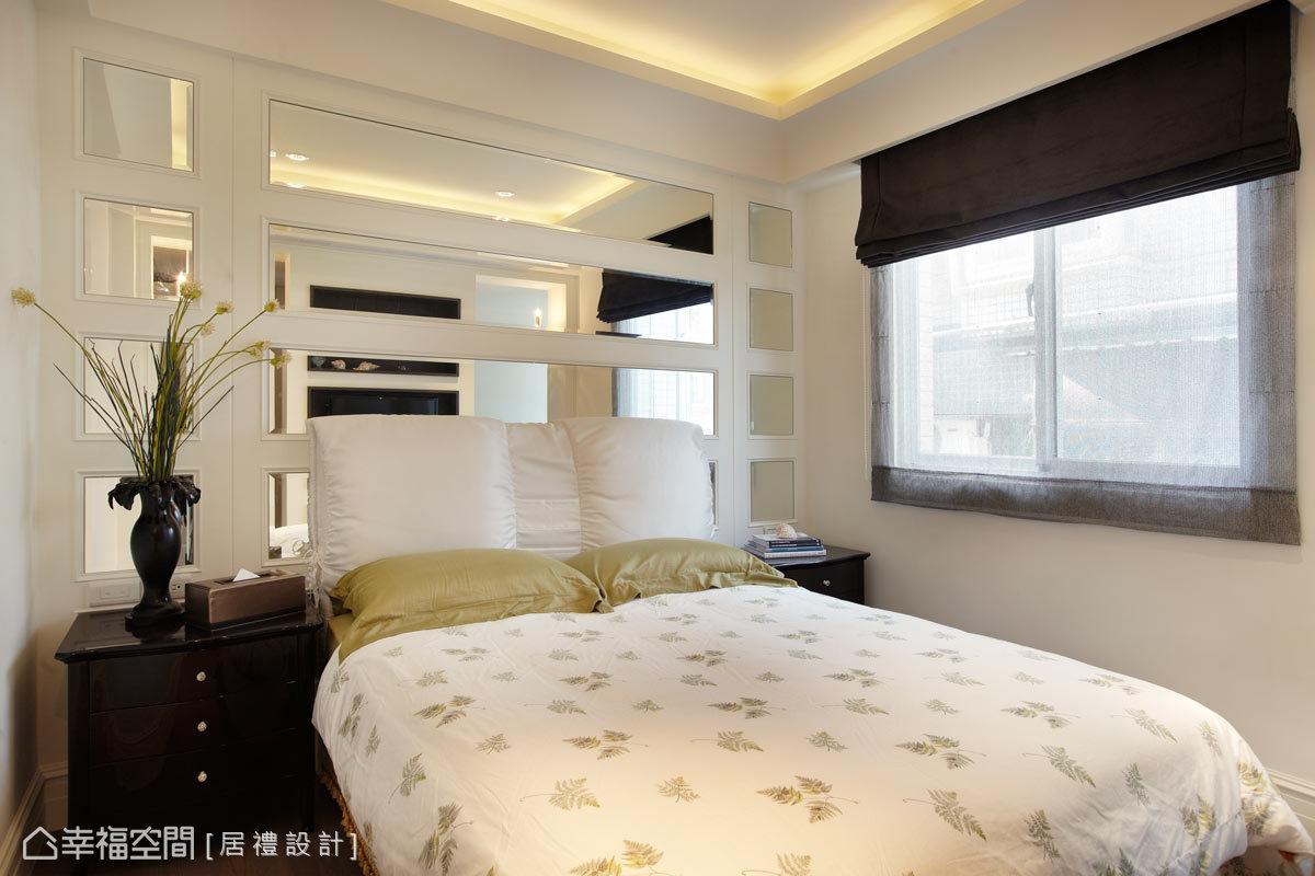 小孩房訂製屬於個人風格的設計,男孩房以深色搭配明鏡表現穩重感。