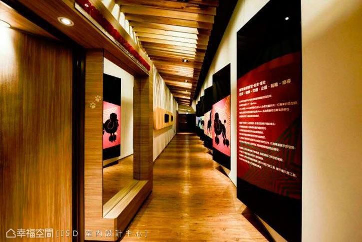 明亮光鮮的廊道設計,讓每一次行走都彷彿在走時尚T台。