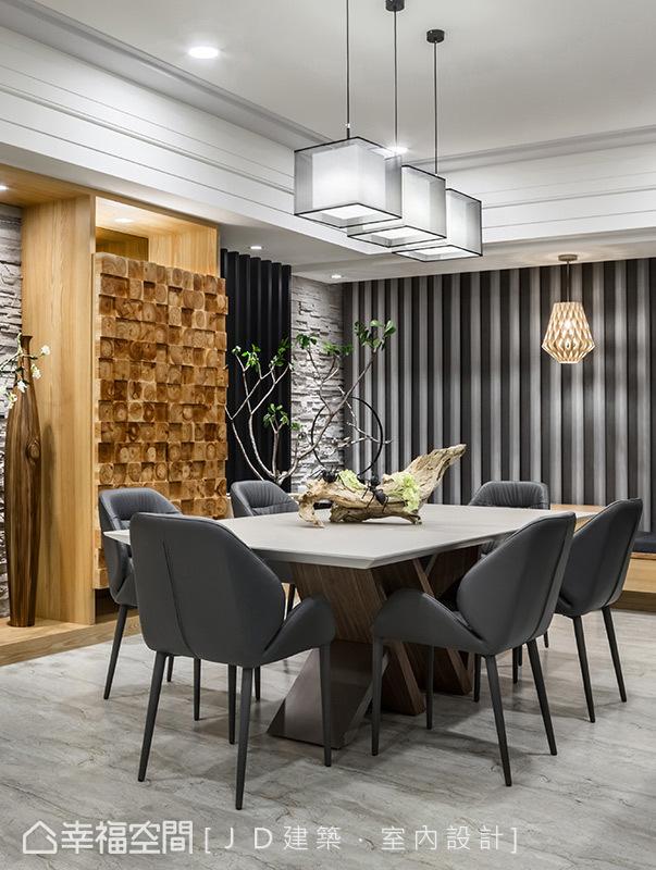 現代簡約中見設計美學的家具家飾選搭,表現簡單卻質感獨具的美學品味。