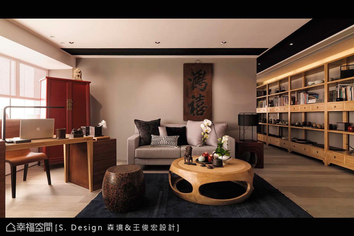 將設計師所珍藏的古物老件、傢俬、墨寶等,一一鋪排於場域內部,帶出中式文化的靜、雅、秀、逸。