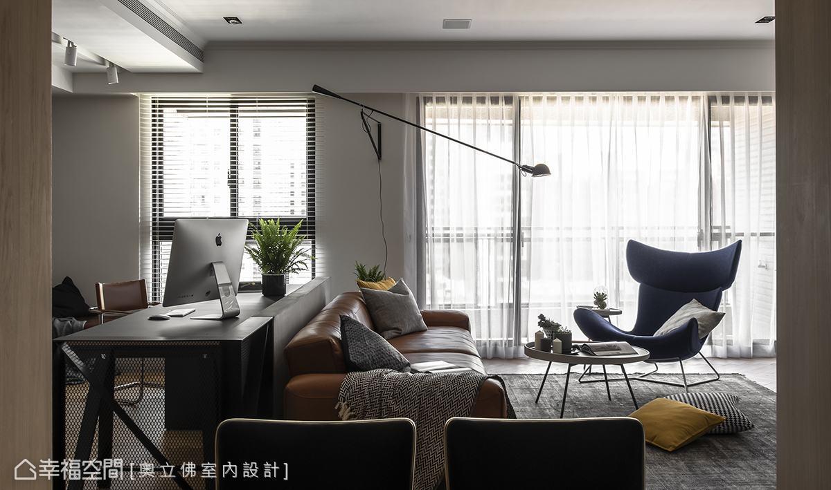 美式風格 大坪數 新成屋 奧立佛室內設計