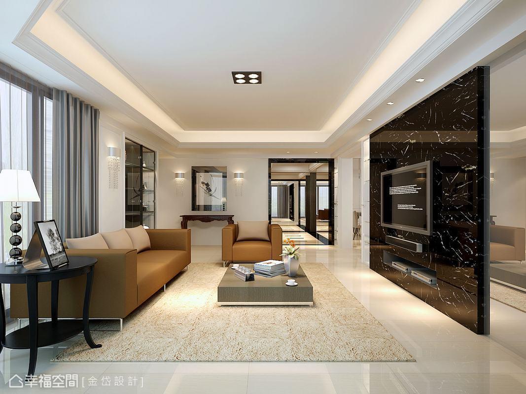 以屋主偏愛的新古典為主,重新注入新式的設計元素,使居住三十年的老房子煥然一新。(此為3D合成示意圖)