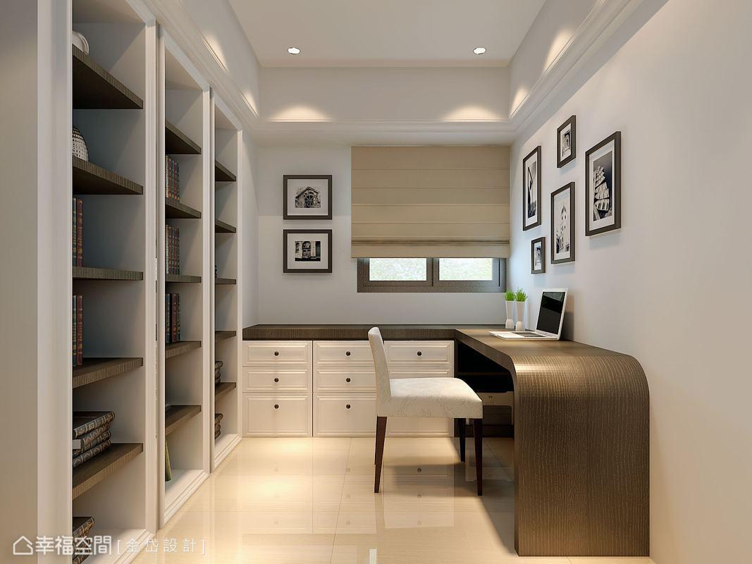 因應實際的需求比例,微調縮減書房使用坪數,爭取更多收納及展示空間。(此為3D合成示意圖)