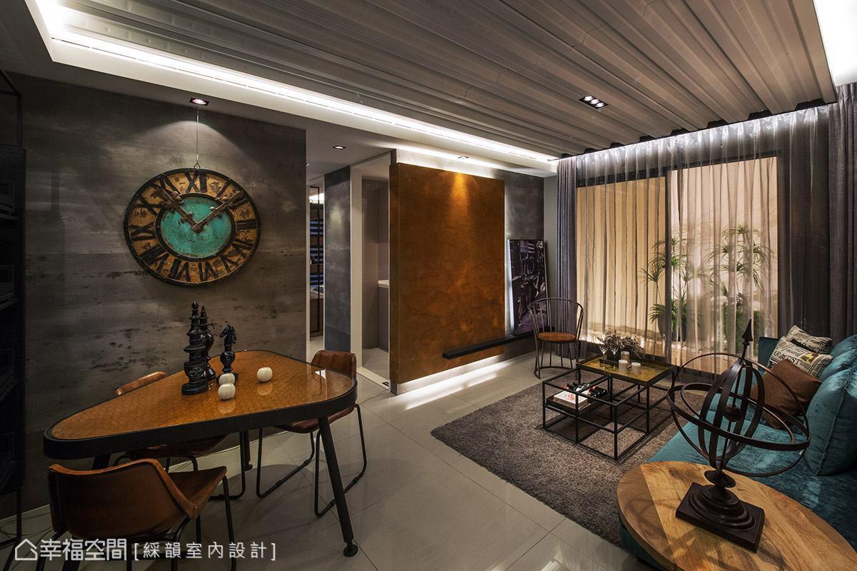 綵韻室內設計以工業風為題,藉由替代質材、家具軟件的搭配,精彩呈現個性十足的風格魅力。