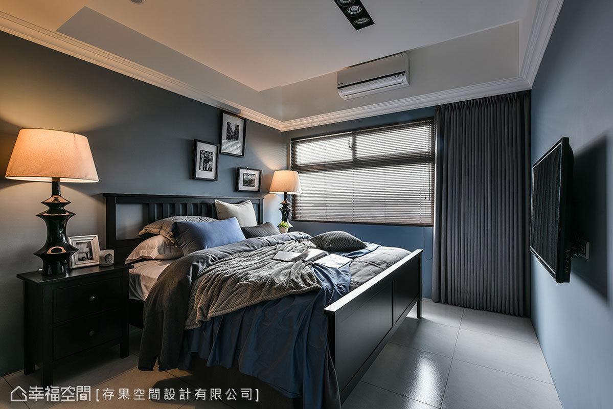 選用北歐家具圍塑溫馨舒適的氣氛,壁面特別透過跳色的方式呈現,打造出精品飯店的慵懶。