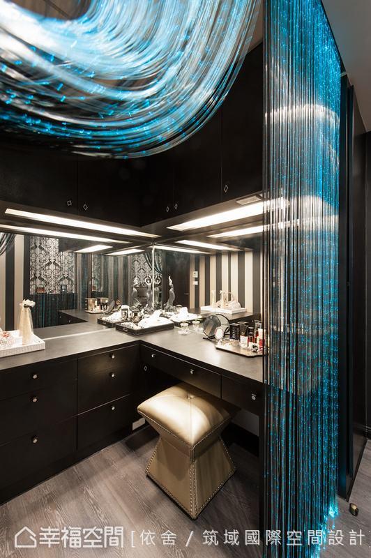 LED浪漫光束的視覺效果,令人有走入時尚Lounge bar之感。