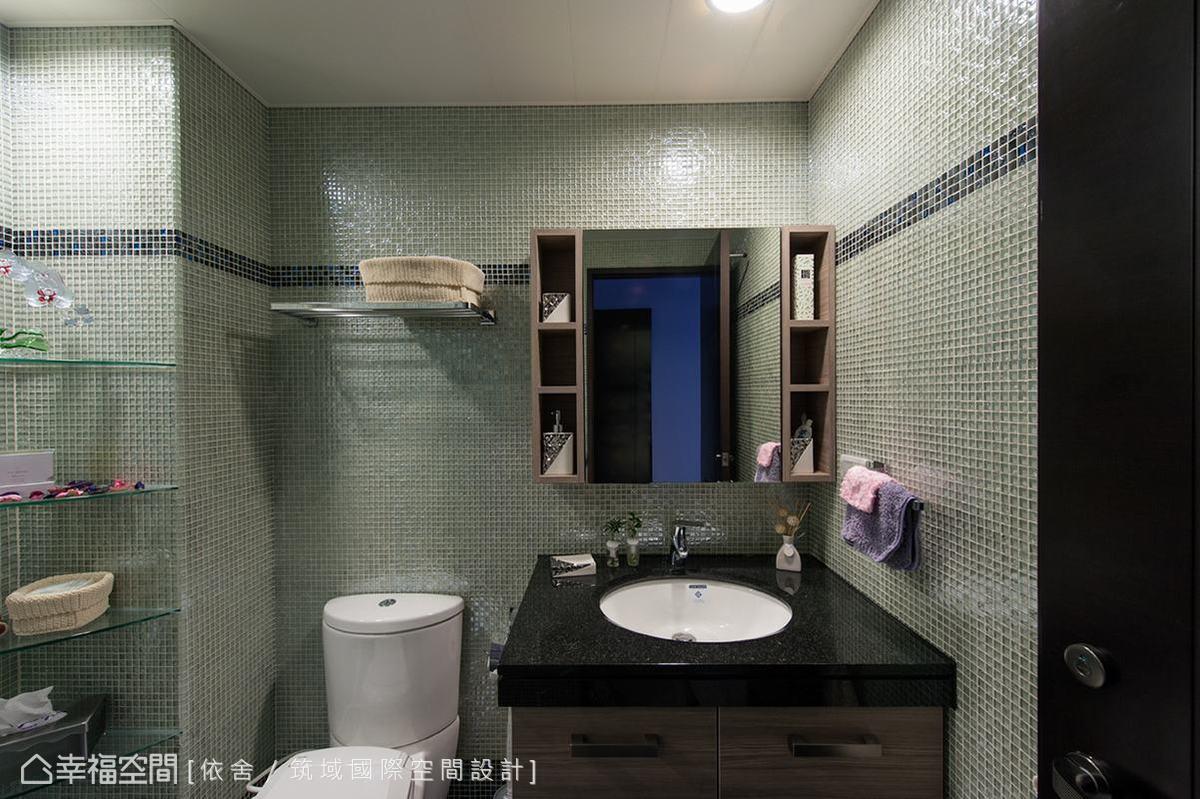 如年輕人偏好的個性旅店般,以精緻的馬賽克作為壁面材質。