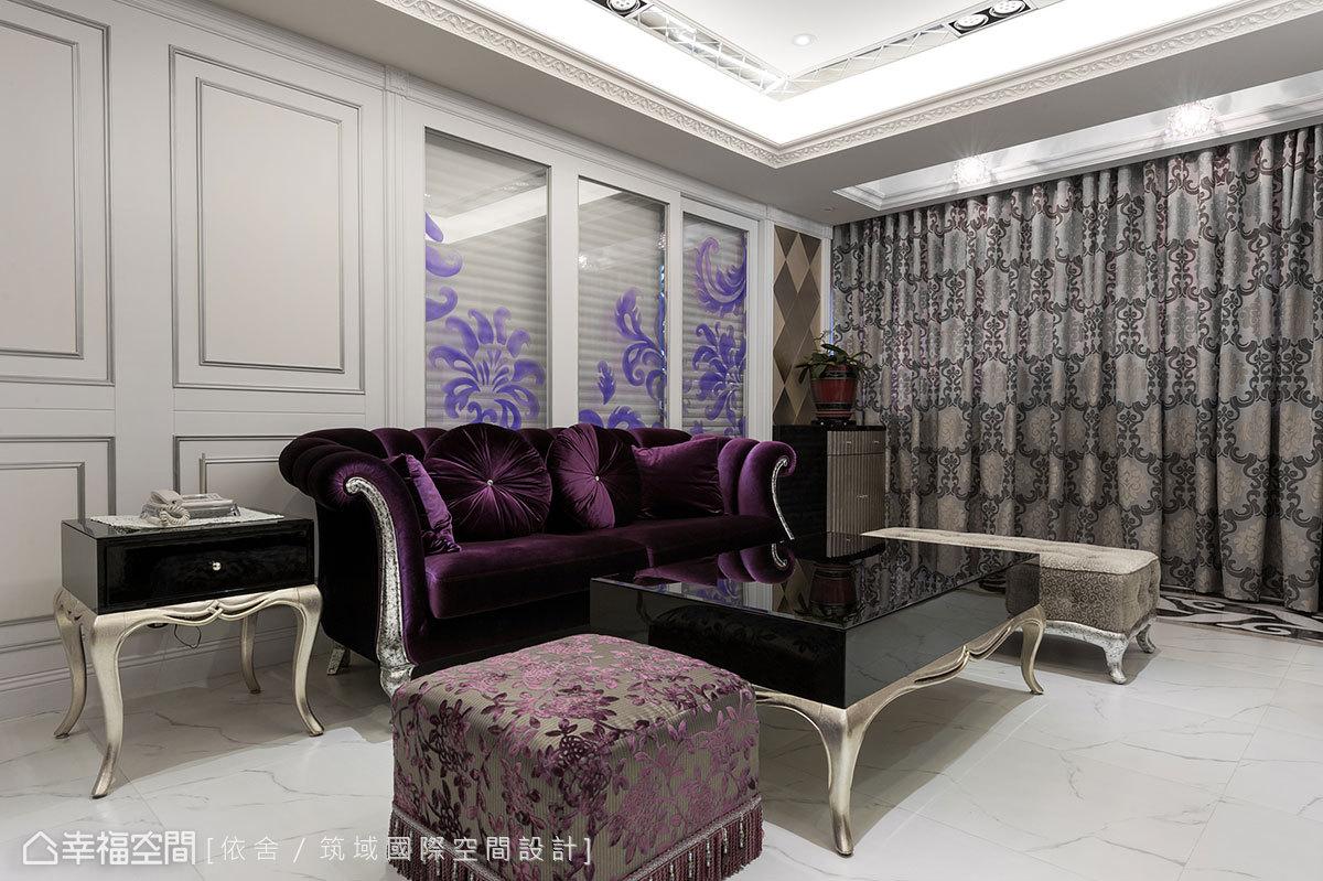 筑域國際空間設計進一步將書房隔間牆以穿透或是線板妝點,作為公領域亮點。