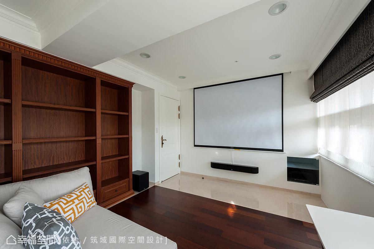 規劃有完善的視聽音響設備,擴充家庭娛樂機能。
