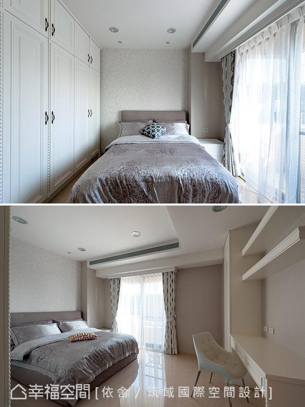 具古典柔美的線條,創造優雅質感的臥房風情。