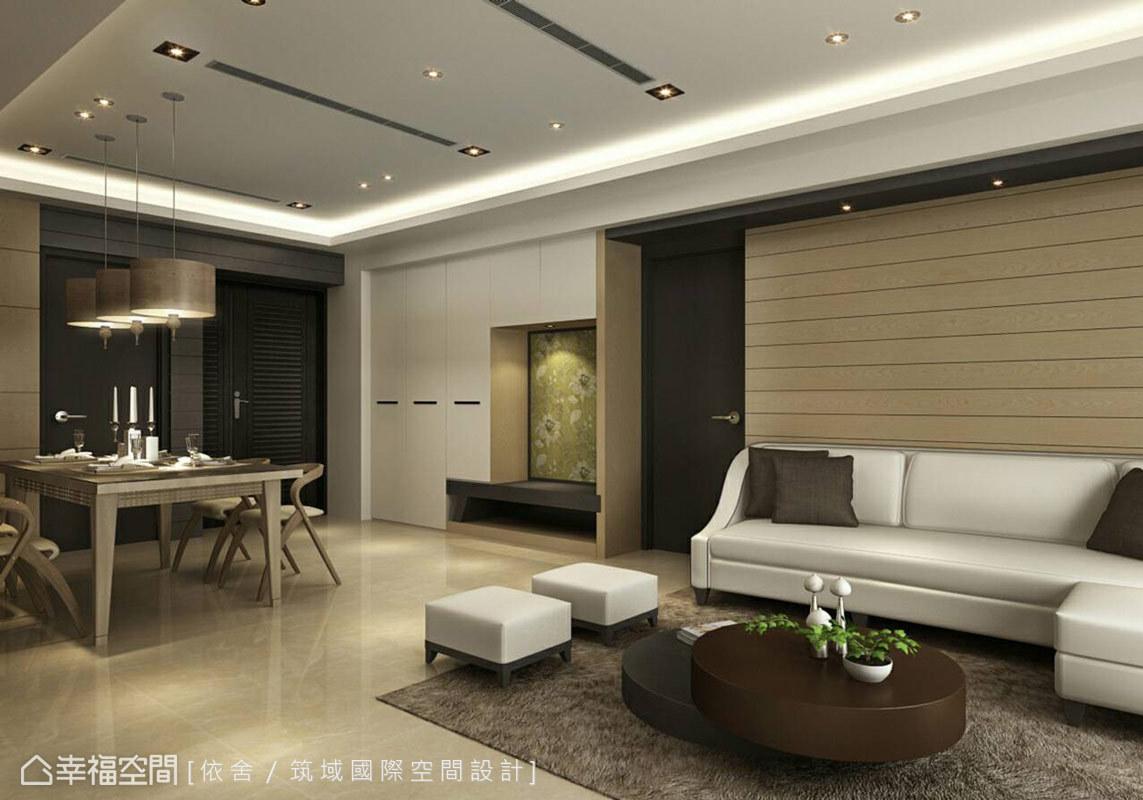 陳永祥設計師以簡約休閒質感的飯店風格為發想,為這處度假宅注入自然人文意象,圍塑靜心從容的情境氛圍。