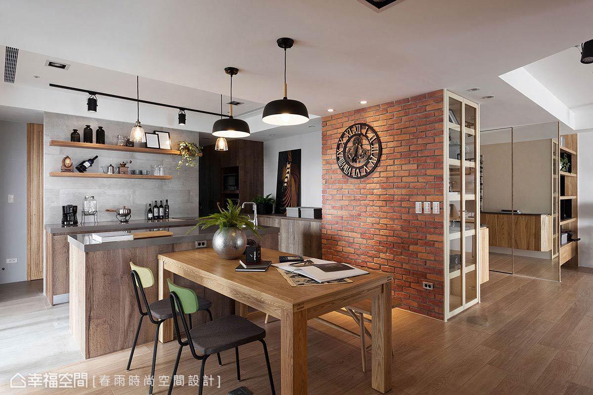 北歐風格標準格局老屋翻新春雨時尚空間設計