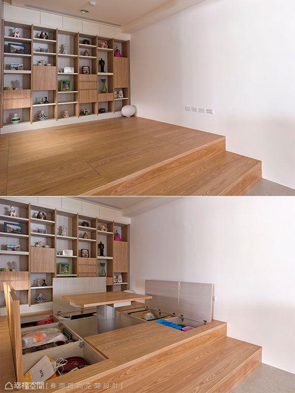 電動升降桌與六宮格地下收納,全方位機能滿足所有生活需求。