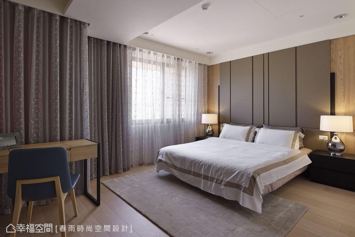 春雨設計調整臥房與主衛浴門片動線,同時兼顧開闊空間感與風水禁忌上雙重要求。