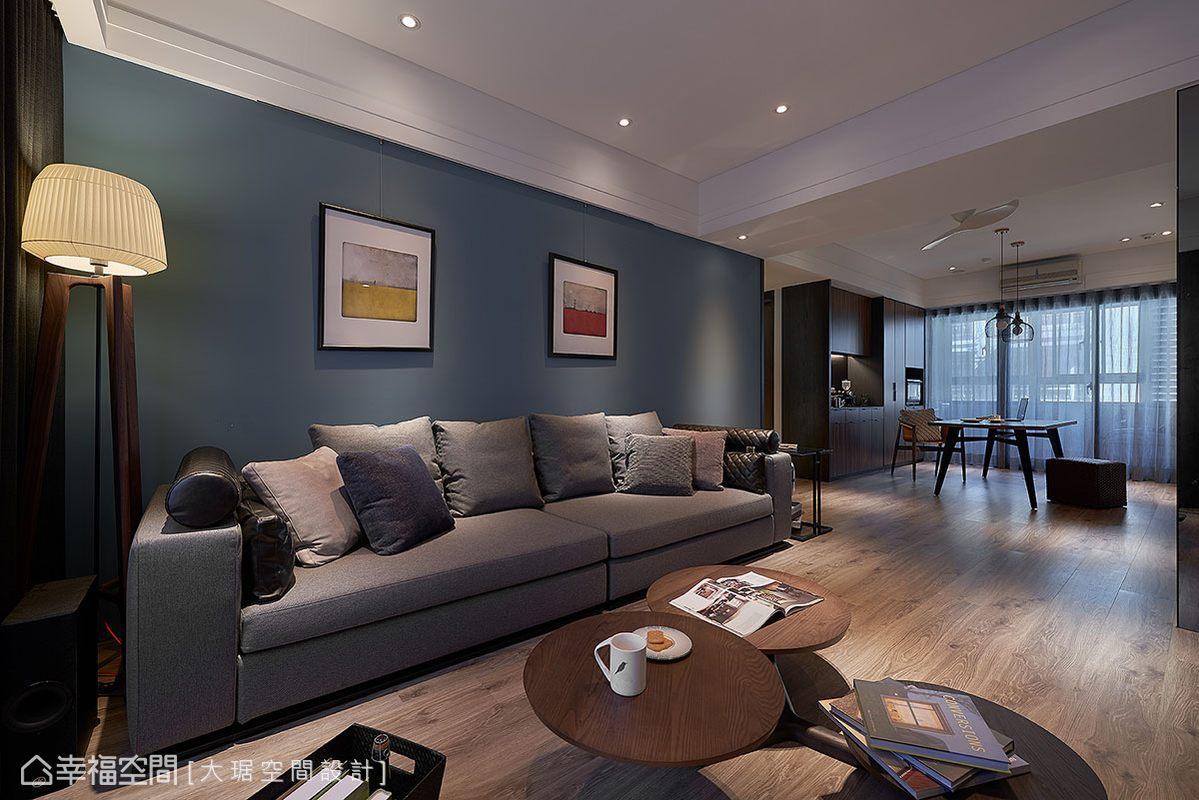 個性丹寧藍 打造明淨的現代暖居