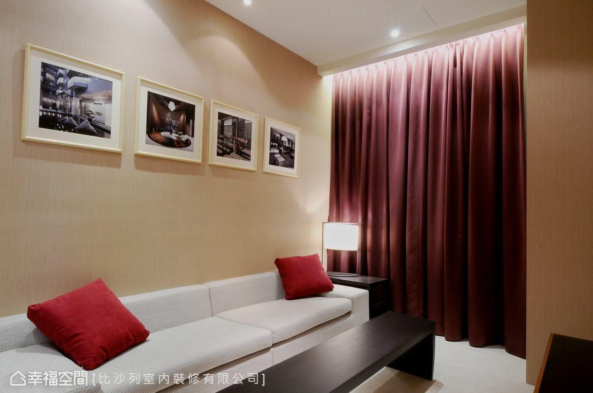 低調內斂的空間配色,打造家的溫馨氛圍。