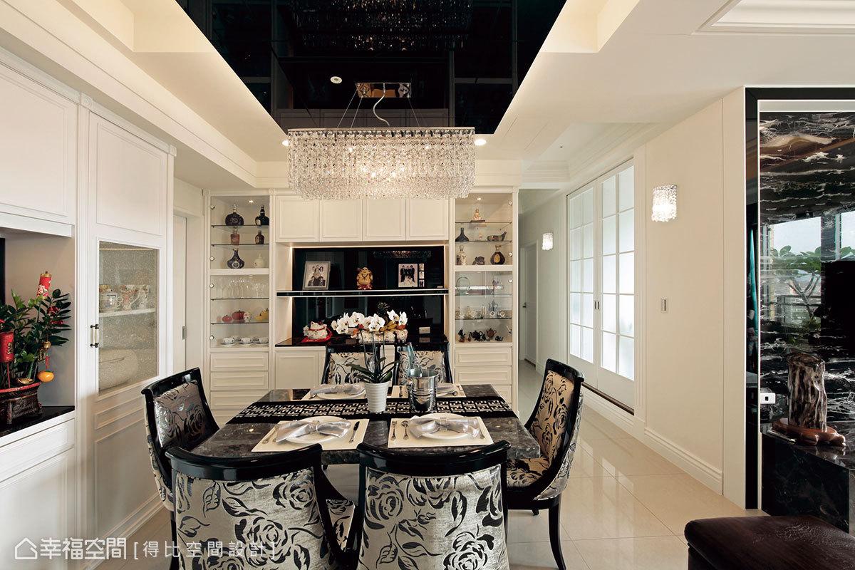 黑與白的彩度變化中,運用材質轉換,打造現代風格的低調奢華。