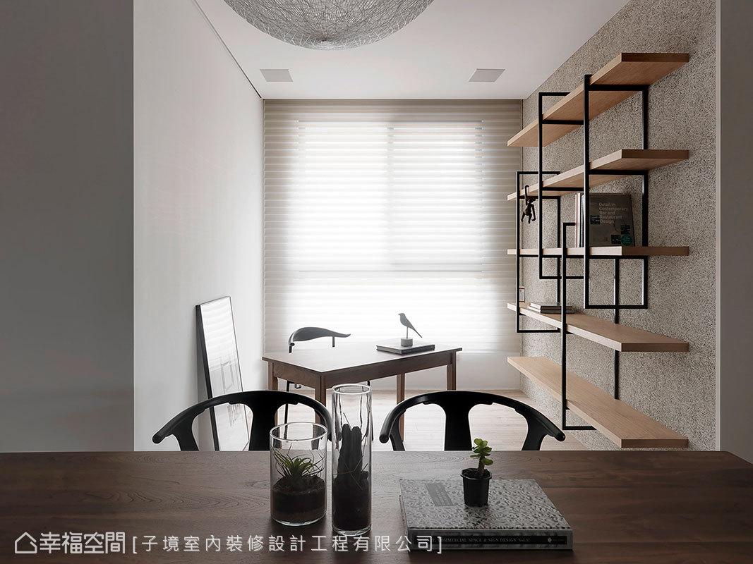 古振宏設計師將原先的隔間牆拆除,讓自然光蔓延一室,餐廚區也變得更寬敞明亮。