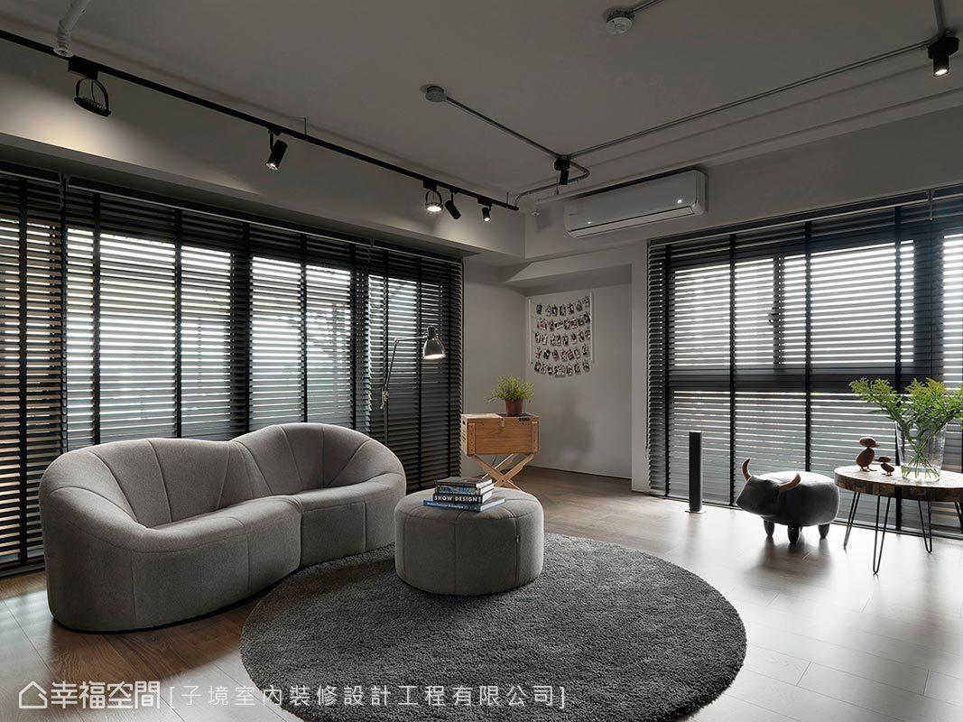 本案擁有採光極佳的優勢,日光由百葉窗扇間透進,賦予居家明亮通透的空間特質。
