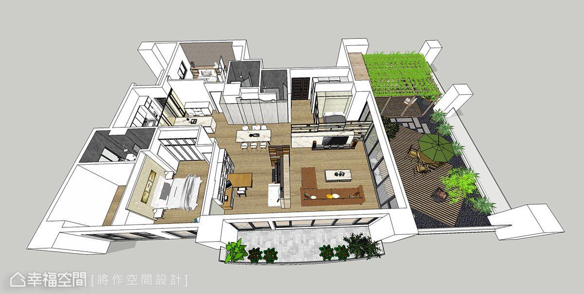 現代風格 大坪數 毛胚屋 將作空間設計