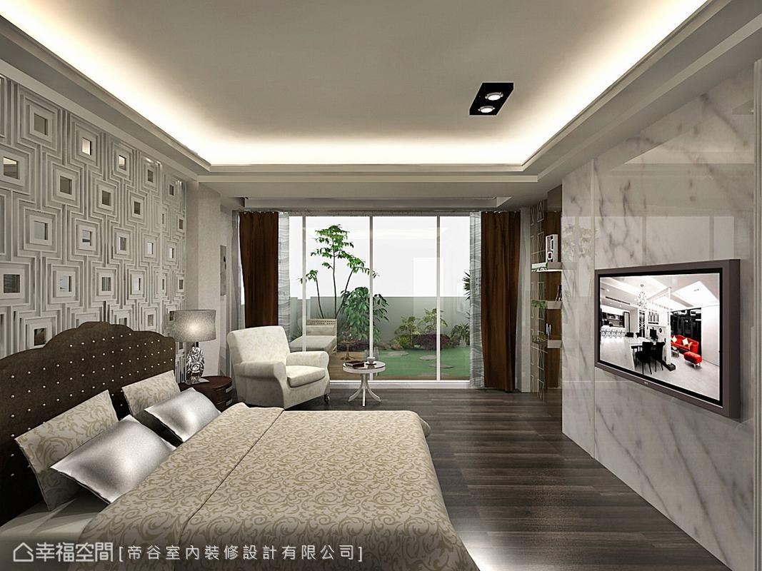 彷若休閒島嶼的發呆亭,使視線無限延伸至陽台空間,利用建築物原有優勢輕鬆引景入室。(此為3D合成示意圖)