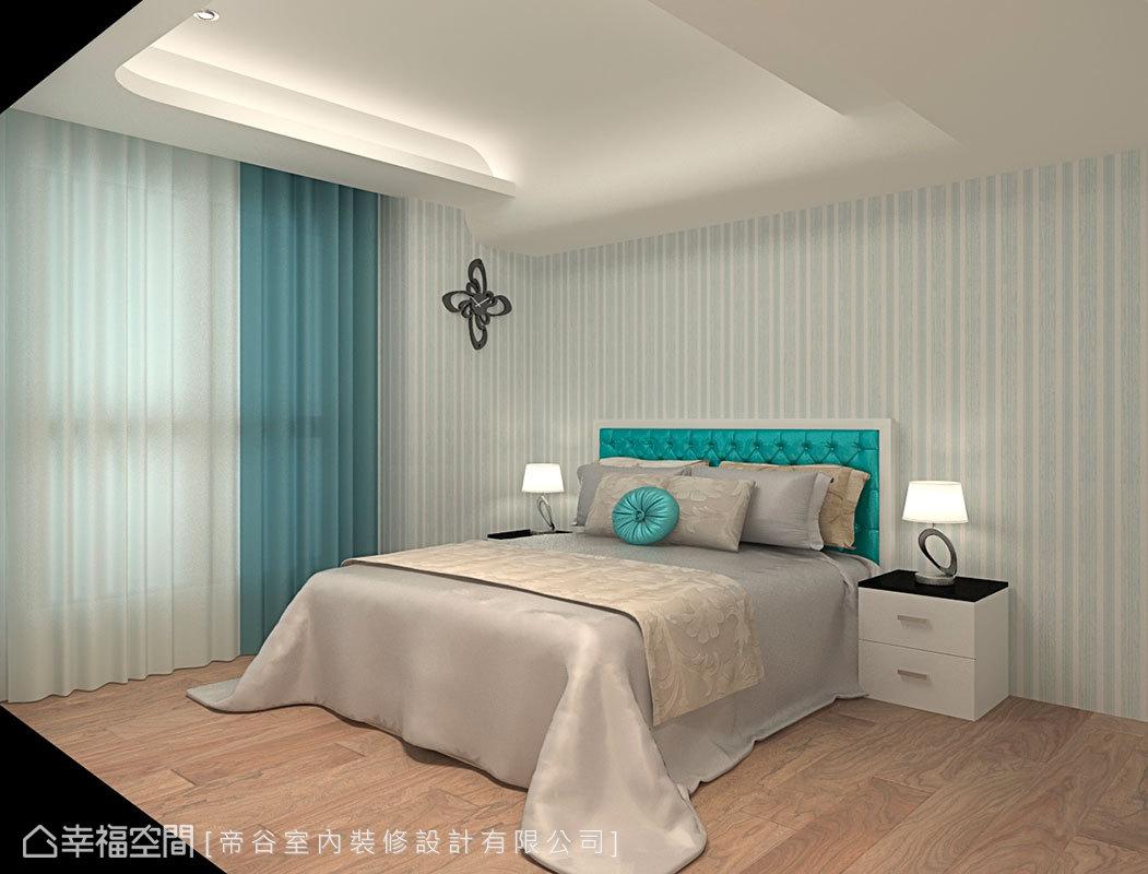 線條簡約的男孩房保留部分古典風格精髓,呼應整體空間設計。