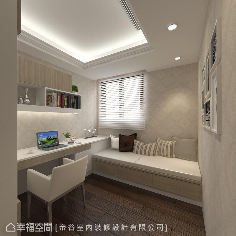 單人床尺寸的臥褟舒適又寬敞,有親朋好友來訪時,亦可作為客房使用。