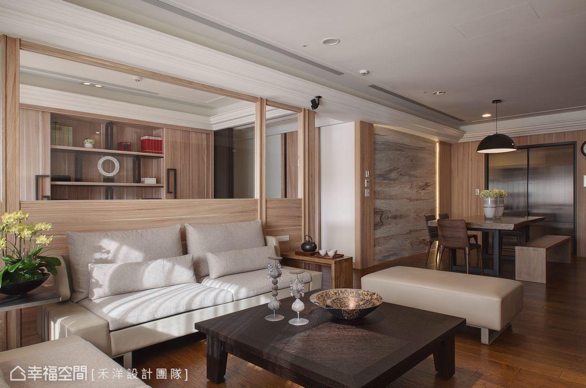以大量的原木作為主要語彙,傢俱的色彩與造型同樣清新淡雅,置身其中便能感受簡樸舒適的氛圍。