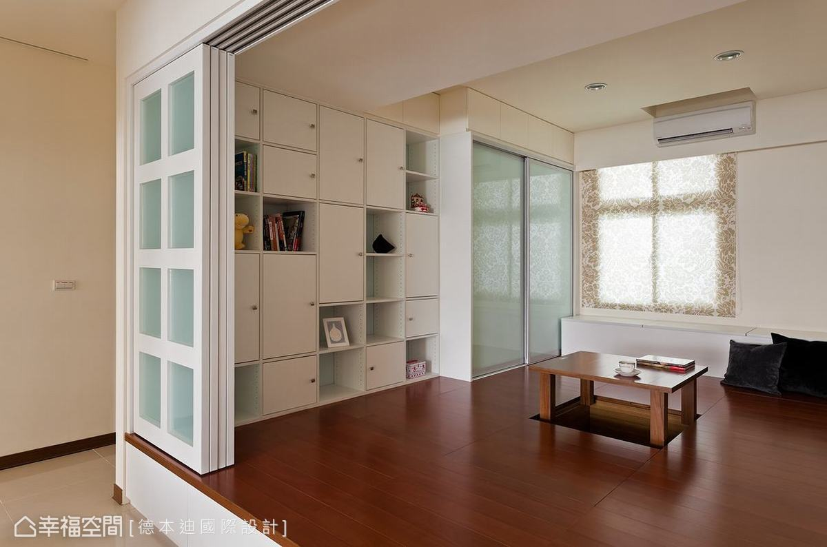 設計師奢侈的規畫四坪大的和室空間,但細看其中的使用規劃,會發現它其實超乎五坪的使用機能。