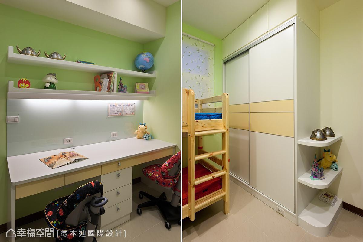 鮮嫩的色彩搭配,讓孩子專屬的成長空間活力無壓。