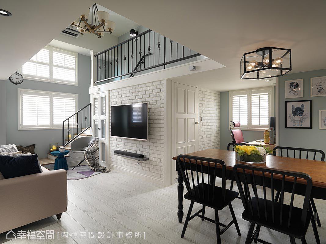 美式風格 挑高樓層 老屋翻新 陶璽空間設計事務所