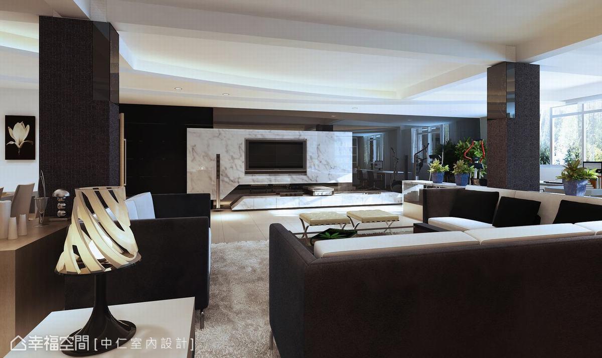 現代風格 別墅  中仁室內設計