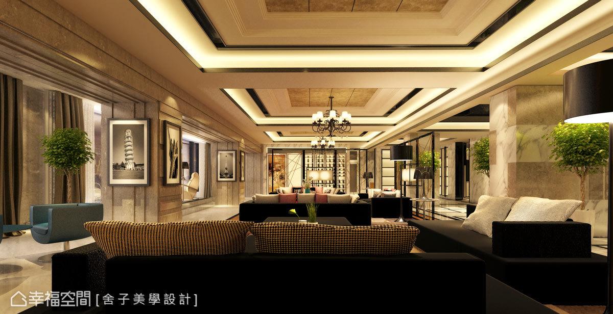 以富麗堂皇的設計主題突顯屋主的尊貴身分,締造出優越的品味生活。