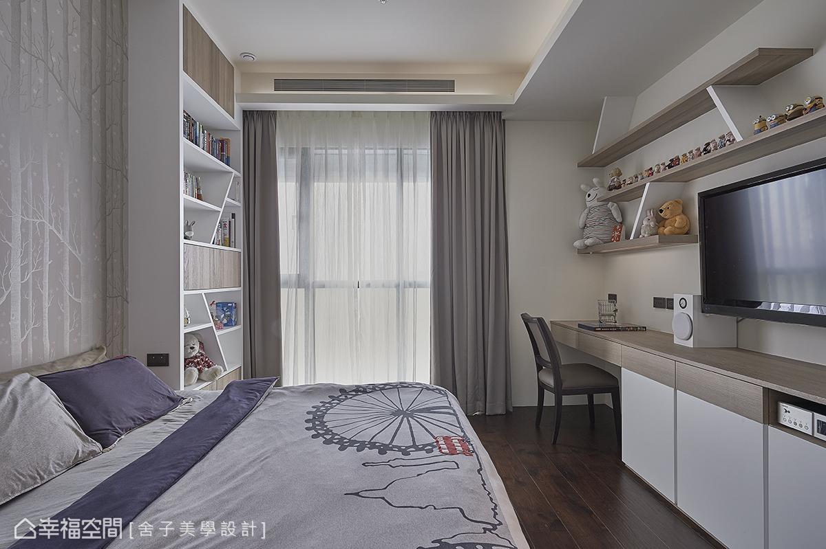 舍子美學設計以豐富造形的層板變化,讓場域洋溢活潑的調性,讓創意發揮淋漓盡致。
