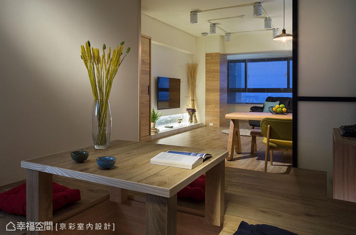 設計師悉心傾聽醫生屋主的需求,構思出全新的空間脈絡,加高的和室也具有收納的功能。