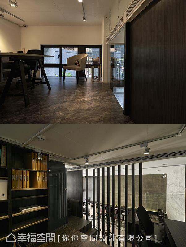 採用開放式式設計,讓挑高的空間有延伸感,避免視野顯得過於侷促狹窄。