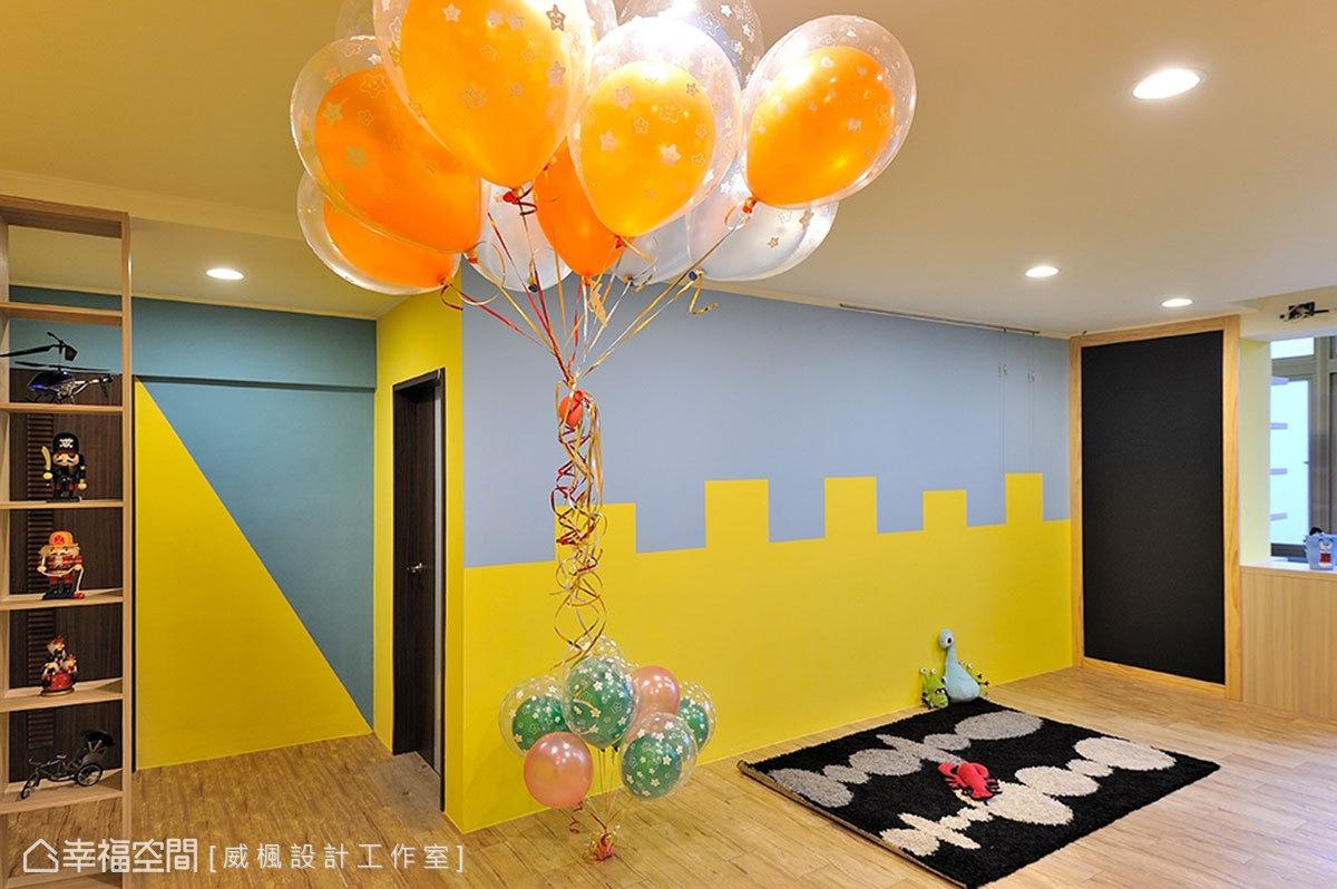 在角落打造一面塗鴉牆,隨時可做為心情留言或生活記事,增進家人情誼。
