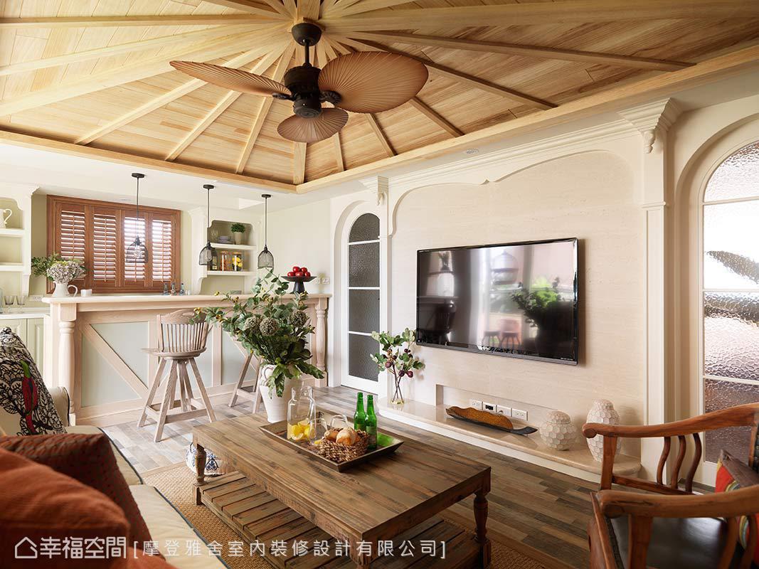 異國風格 樓中樓 老屋翻新 摩登雅舍室內裝修設計有限公司