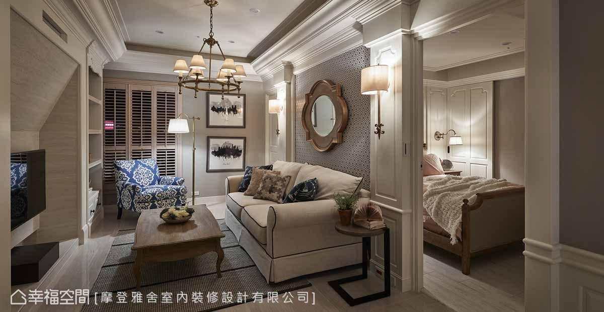 新古典 標準格局 新成屋 摩登雅舍室內裝修設計有限公司