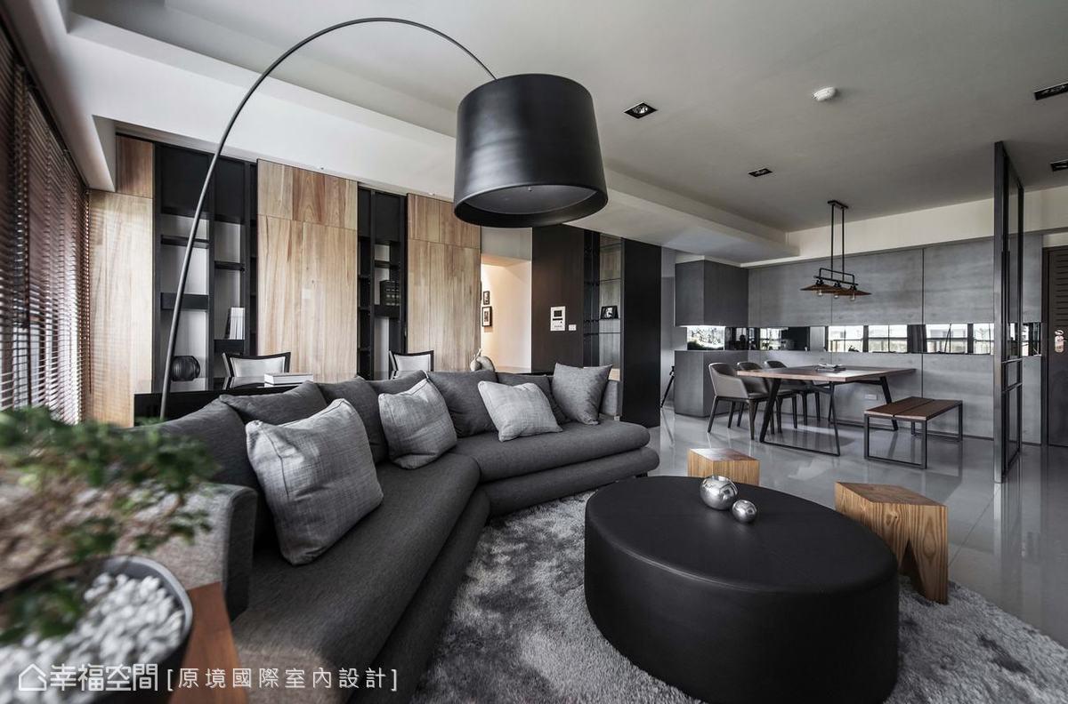 以冷色系的水泥板鋪展餐廳質感,室內再搭以溫暖的梧桐木,使整體不會過於生冷。