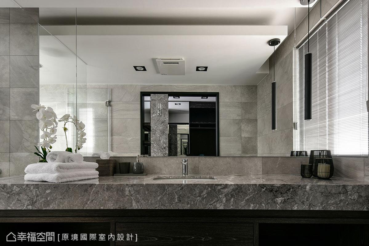 原境國際室內設計藉由飯店式風格,打造出精緻時尚的頂級衛浴環境。