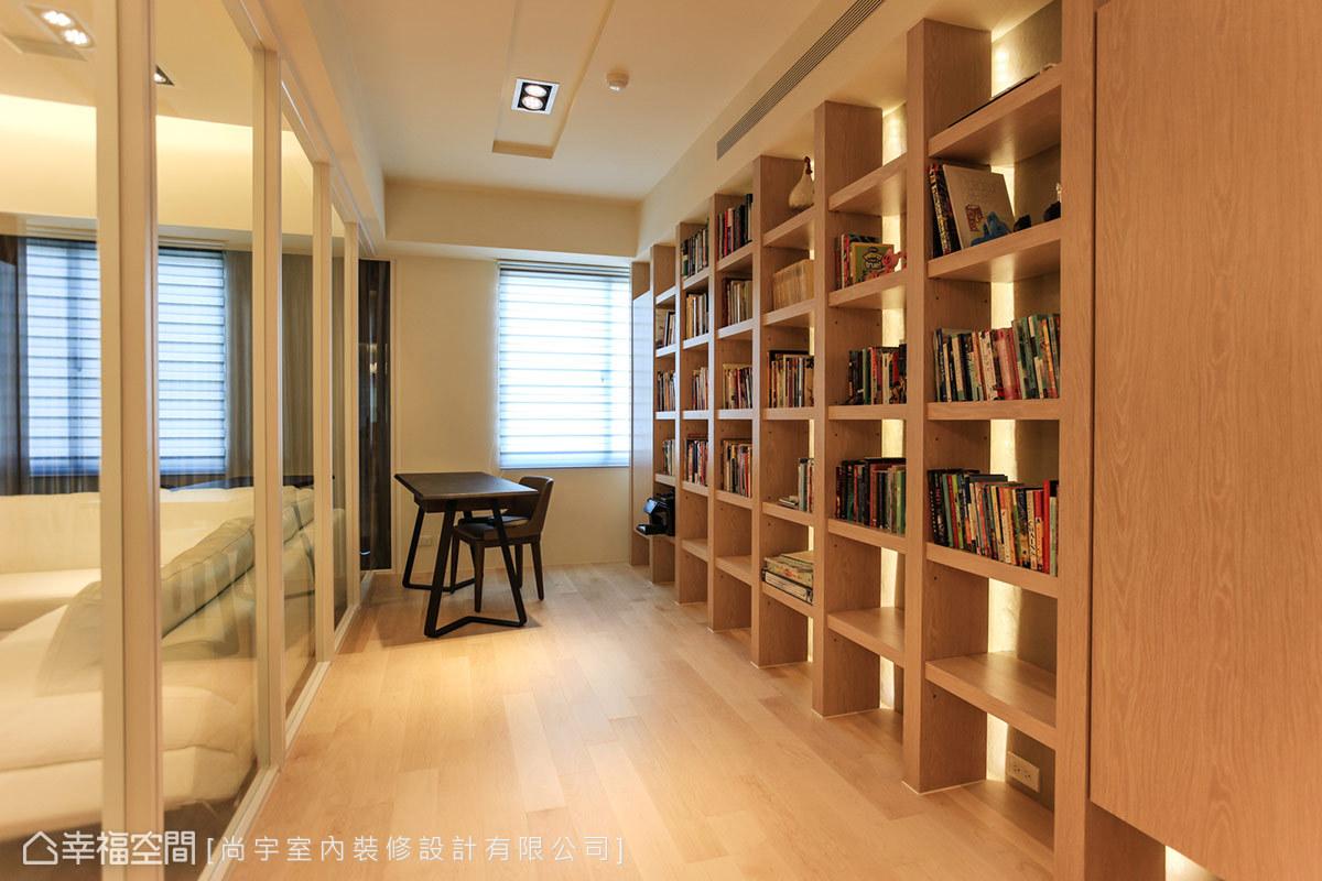 帶著人文知性的木質溫潤,同時兼具客房功能的使用彈性。