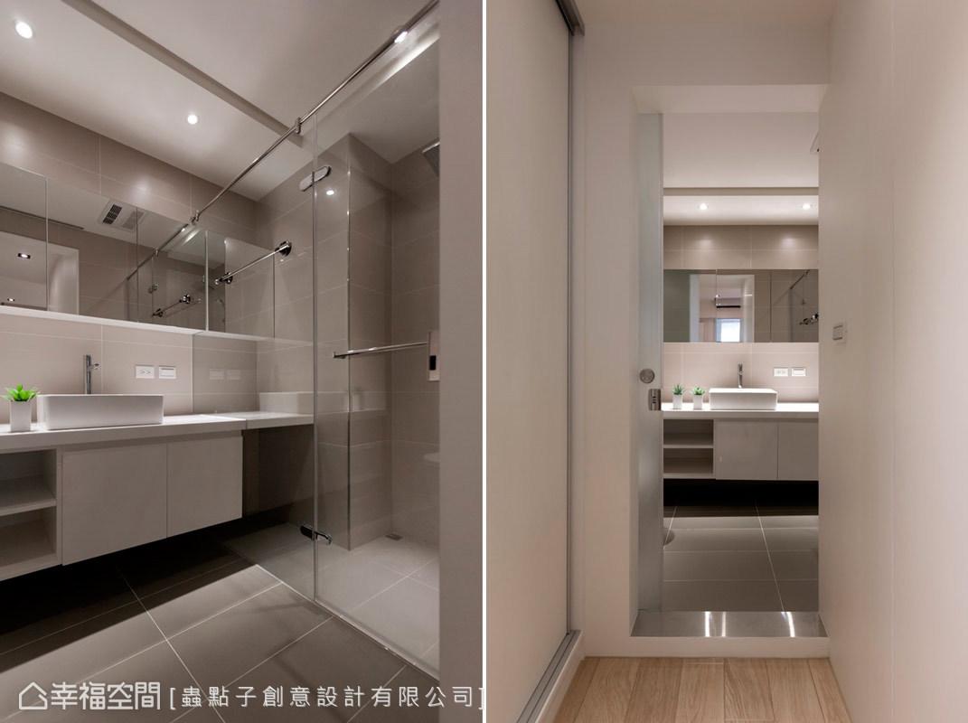 蟲點子設計以乾濕分離的設計,營造出居住環境的舒適感。