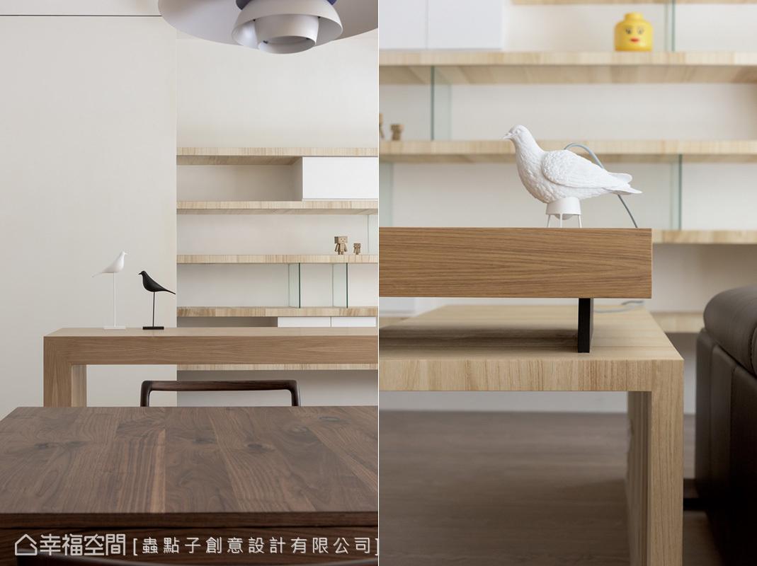 蟲點子創意設計善用家飾擺件,搭配造型燈具和吊燈,為空間注入趣味性。