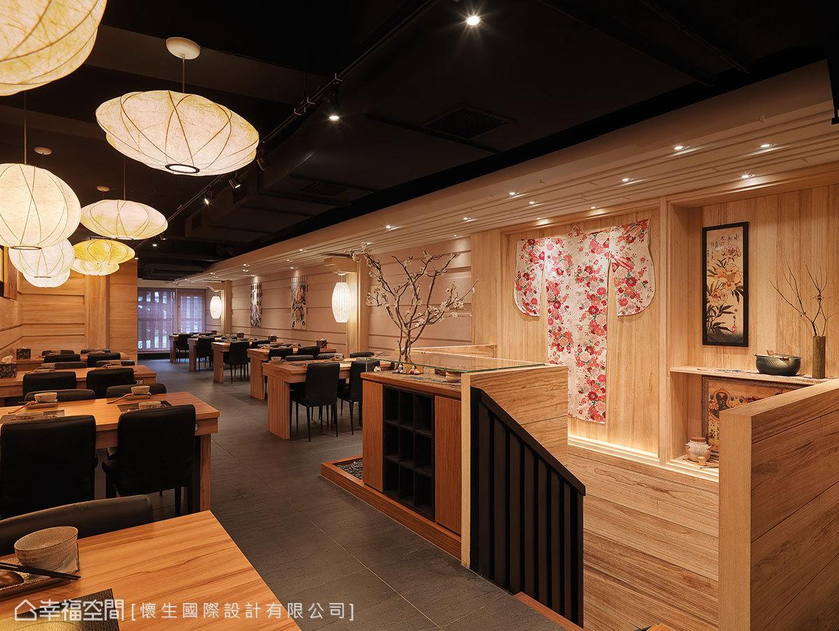 江戶時代的浮世繪、和服與器皿,如藝品展示般演繹日式風情。
