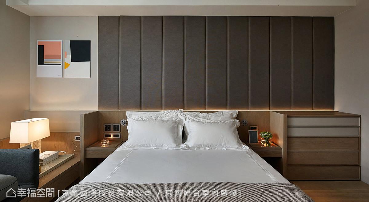 精湛的用色計畫與材質選搭,打造出每個臥房專屬的空間符碼。