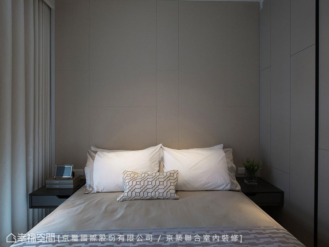 屋主希望將小孩房定位與公共空間一致,且考量到日後轉手的便利性,因此將空間的個性設定在中性且適合其他年齡的臥室氛圍。