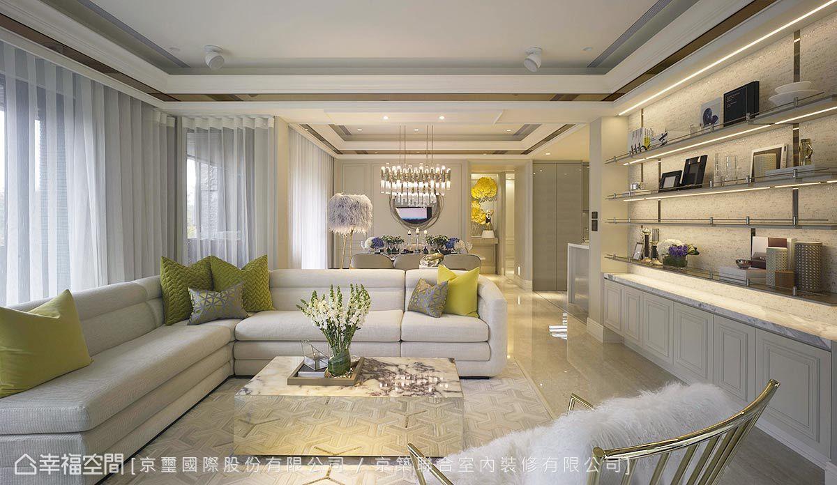 本案強調生活感、自然綠意及藝術氣息,並圍繞著當代藝術的主題來發展,建構出結合屋主品味與Luxury奢華工藝的唯美空間。