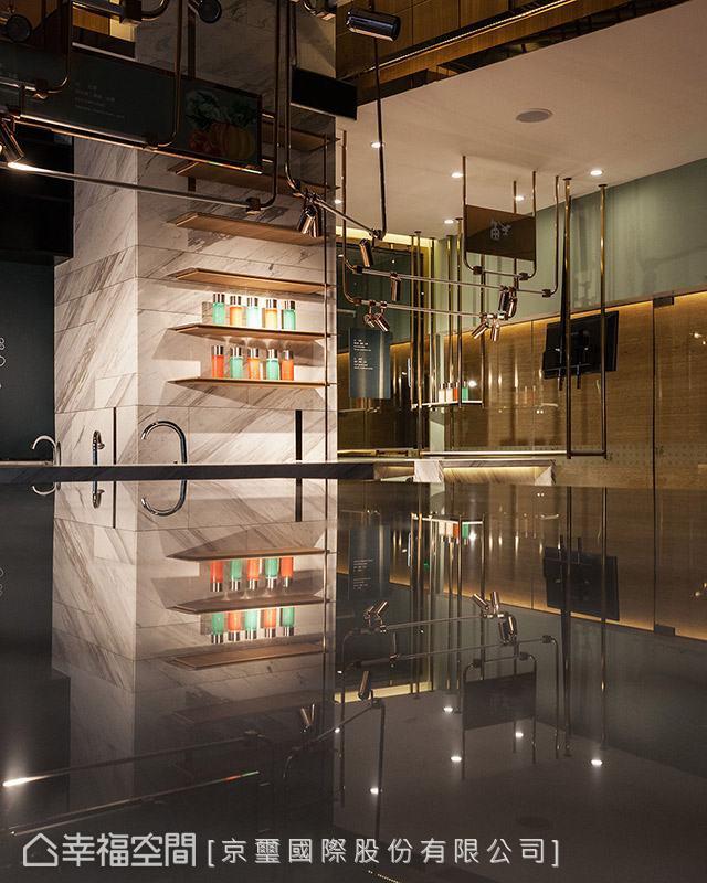透過色彩、材質與燈光的細膩安排,一層層堆疊出場域的動人神采。