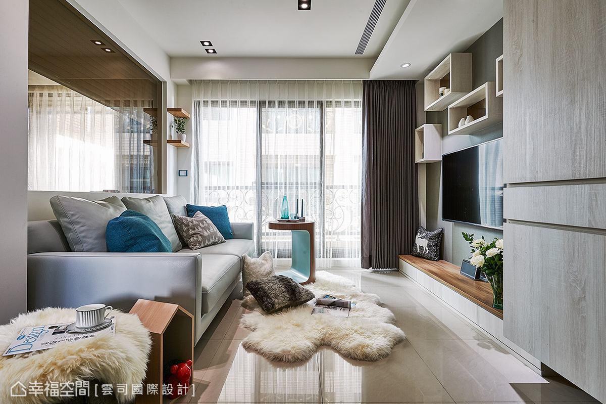 雲司國際設計以屋主喜愛的北歐風格為設計主題,運用簡單明亮的色調做鋪陳,圍塑清新舒適的居家氛圍。